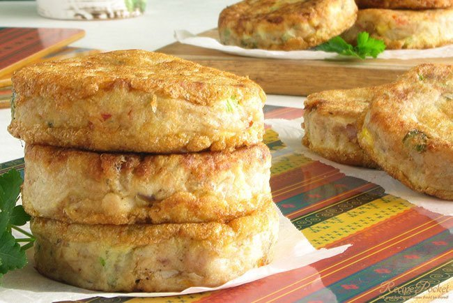 Easy Tuna Patties with tuna and potato