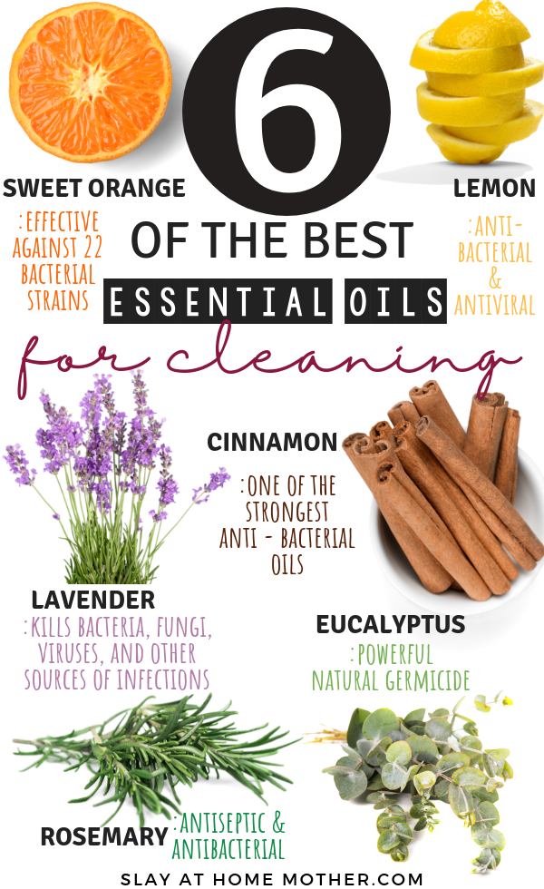 6 Of The Best Essential Oils For Cleaning #naturalcleaning #slayathomemother - SLAYathomemother.com