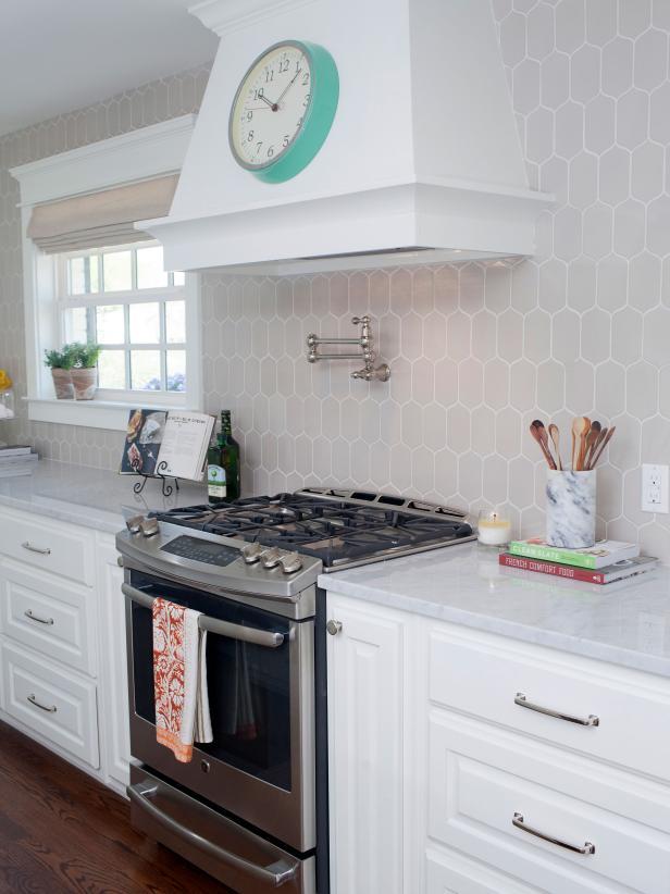 fixer upper kitchen hexagon tile