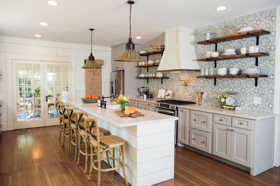 fixer upper kitchens fun backsplash