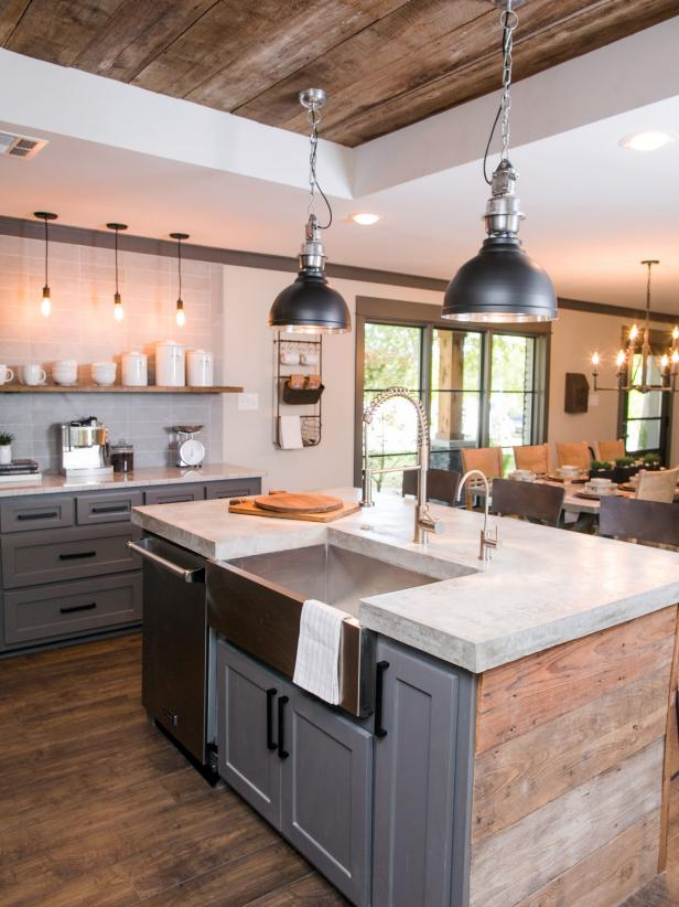 fixer upper kitchens wood