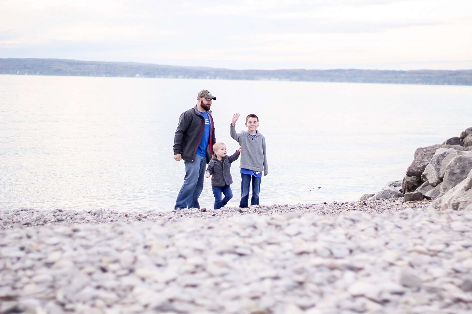 petoskey mi boys on beach