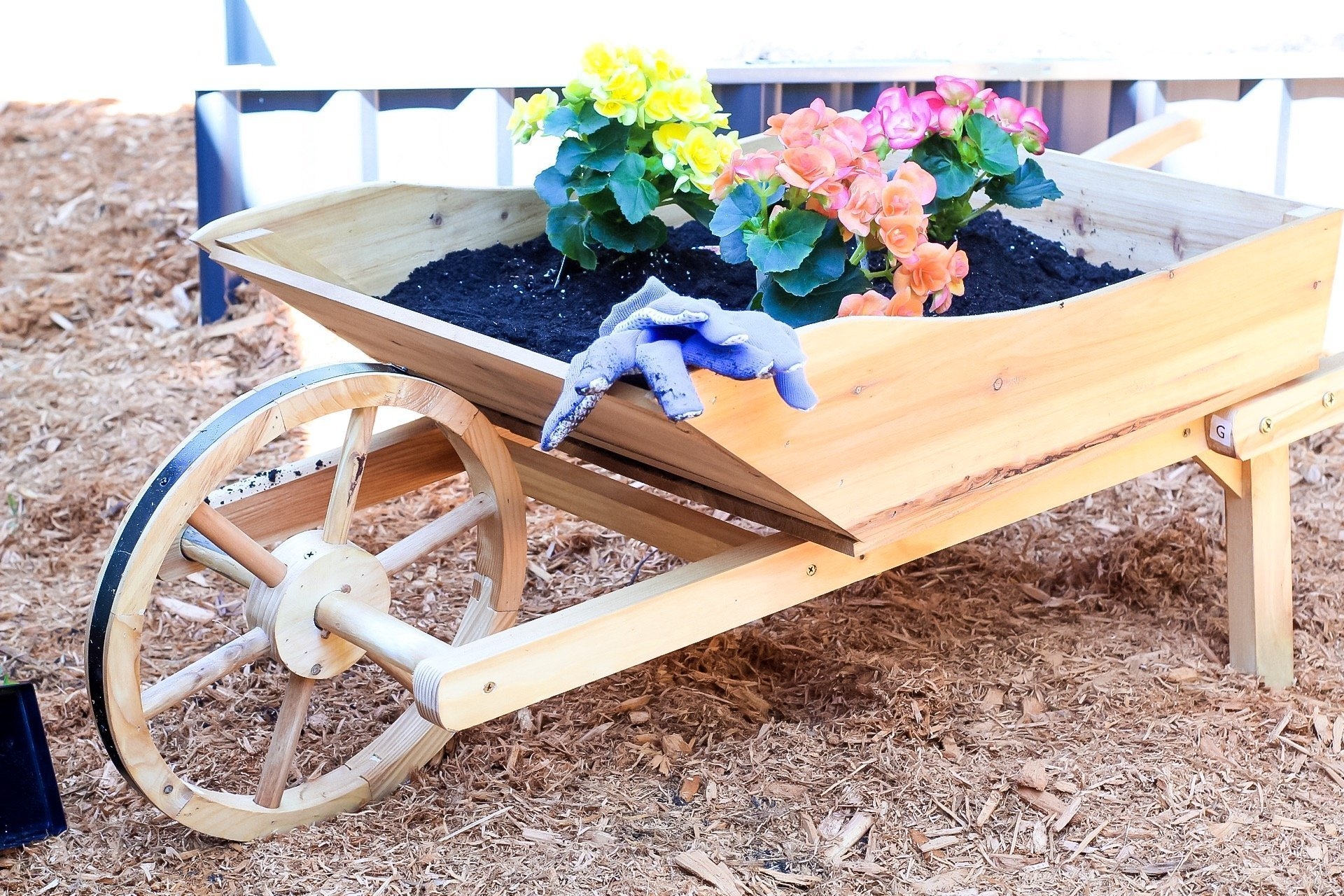 gardening tips - filling up the wheelbarrow