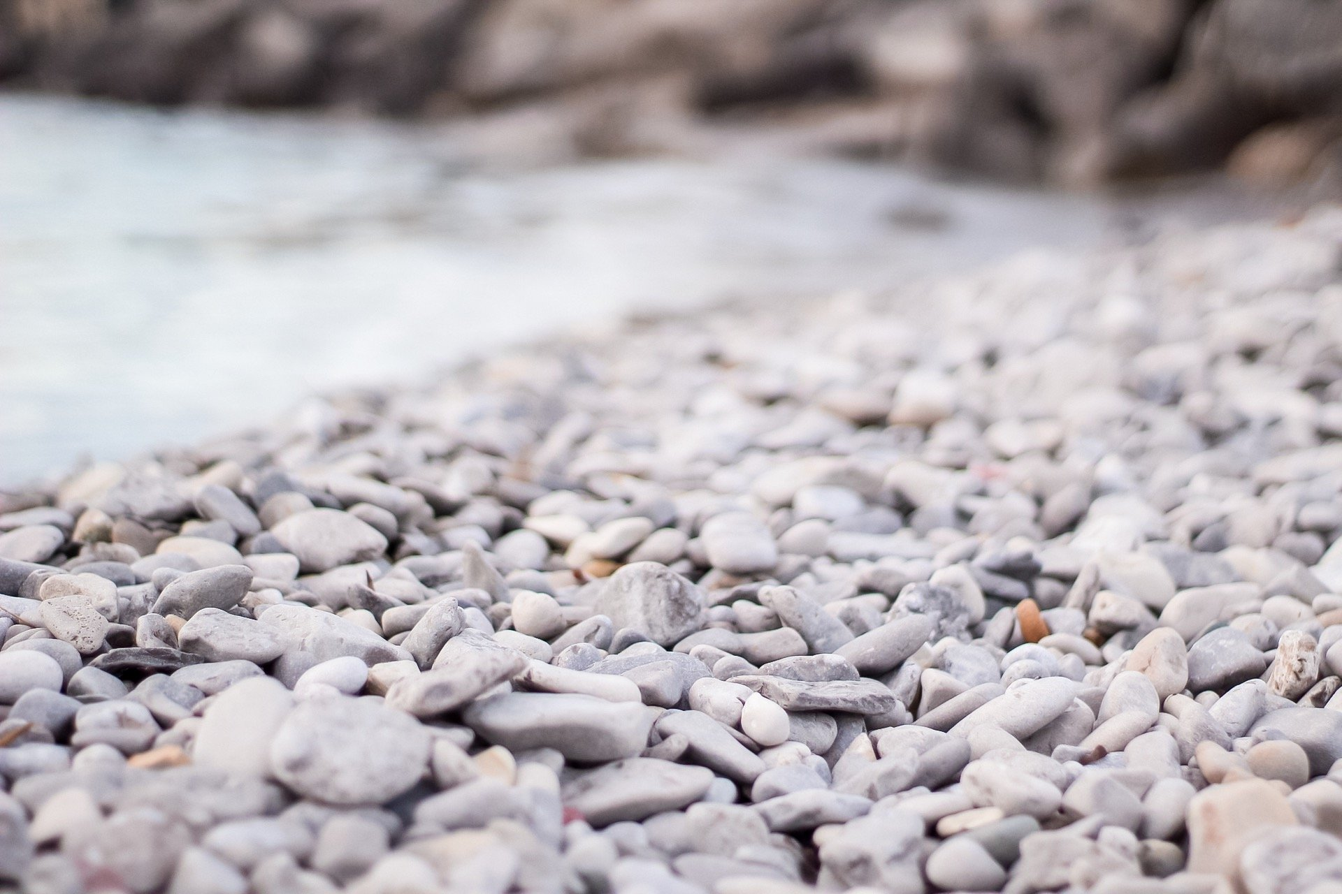 stones and water at the pier in petoskey mi