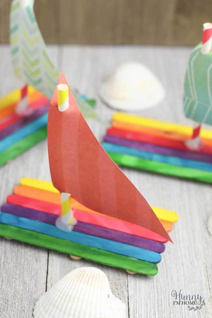 Popsicle Stick Boat Craft