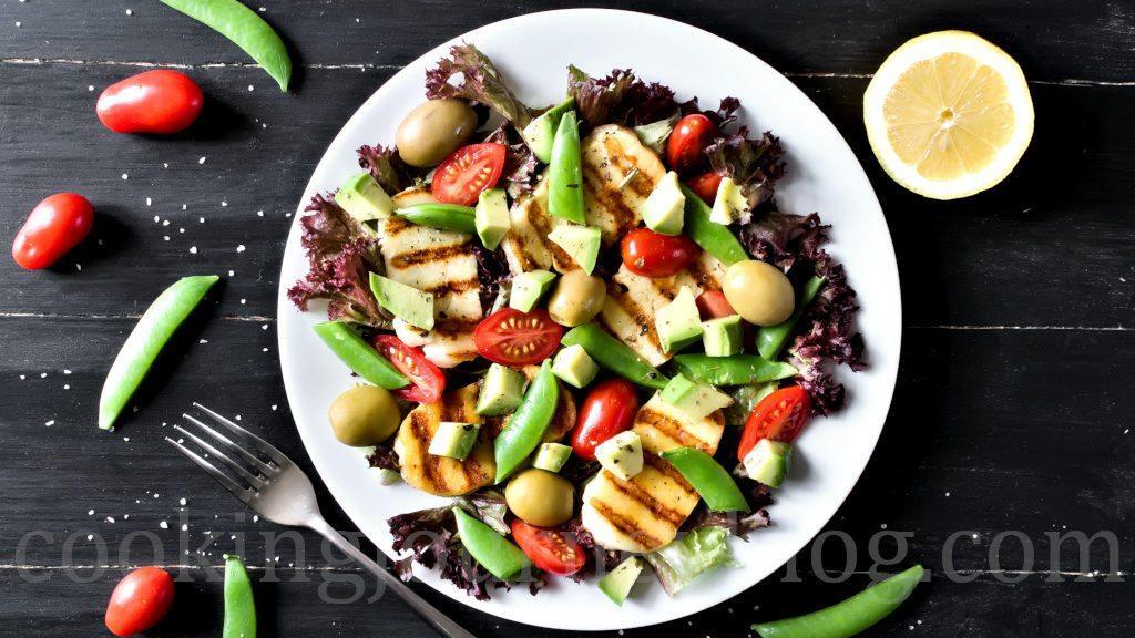 Grilled-Halloumi-and-Avocado-Salad-Avocado-Salad-Recipes-2018