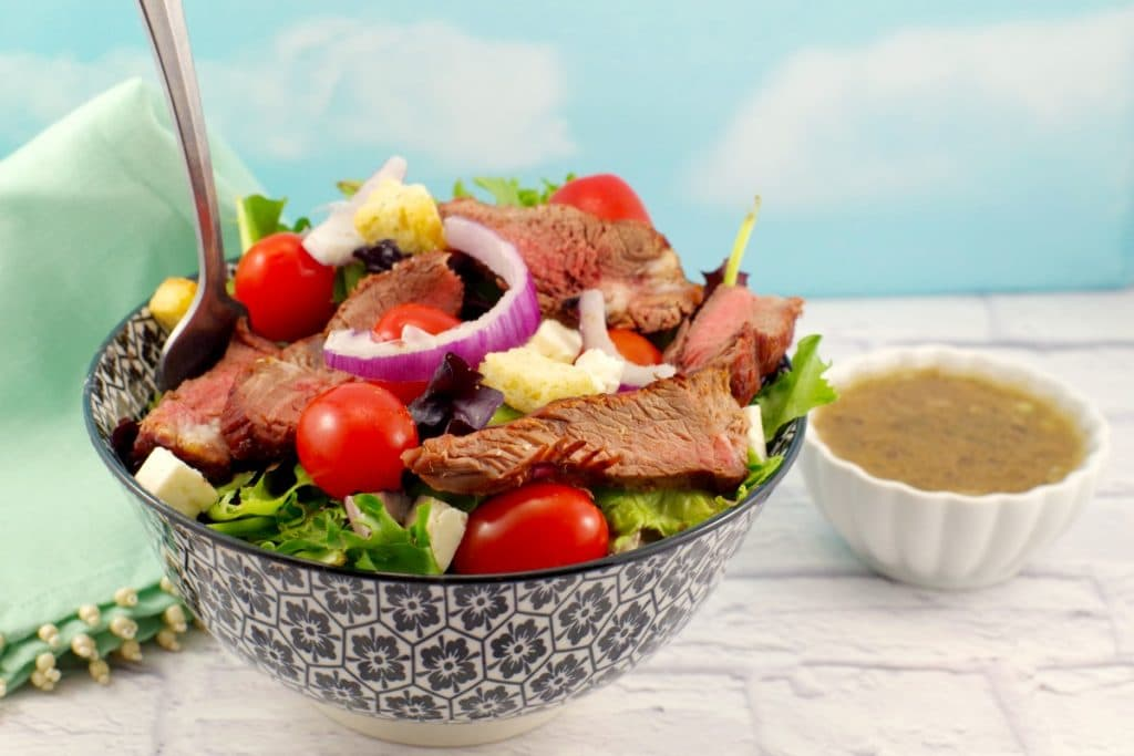 Grilled Steak Salad With Feta And Clamato Dressing