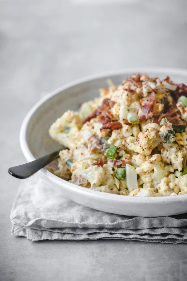 Loaded Potato Salad - Keto version