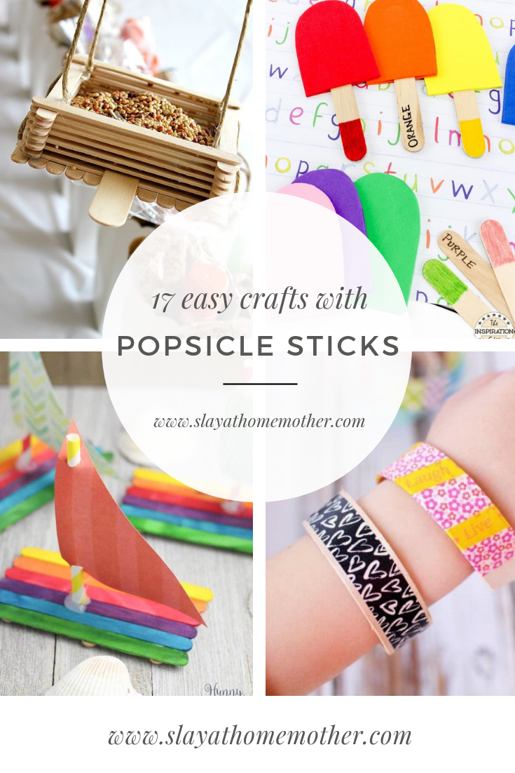 17 Easy Popsicle Stick Crafts For Kids Slay At Home Mother