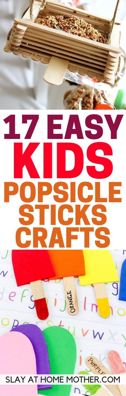 Popsicle Stick Crafts Your Child Will Love! - slayathomemother.com