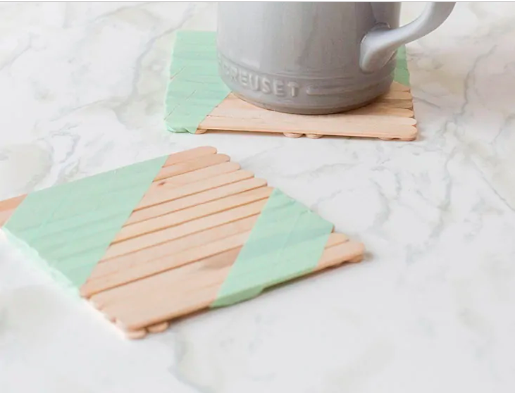 DIY Coaster Made With Popsicle Sticks