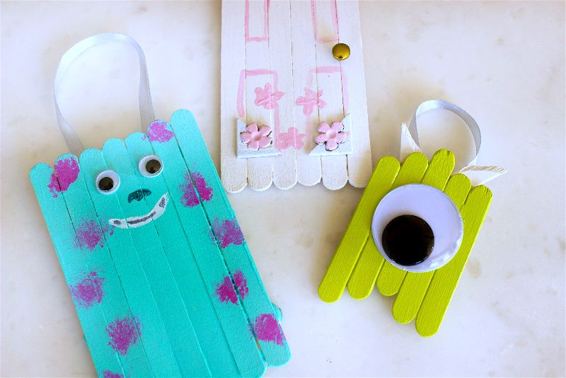 Monsters INC Popsicle Stick Craft