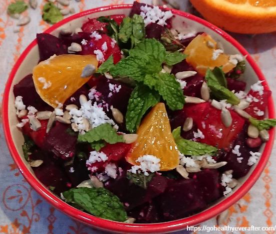 beet orange salad with coconut