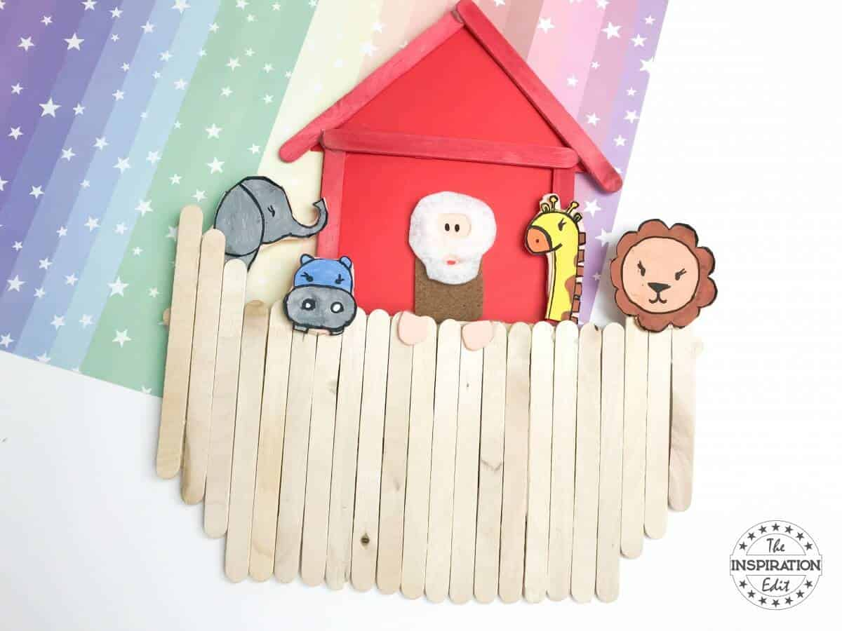 Noah's Ark Craft With Popsicle Sticks