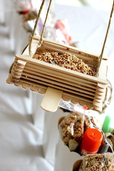 Popsicle Stick Bird Feeder