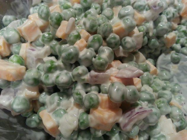 simple pea salad