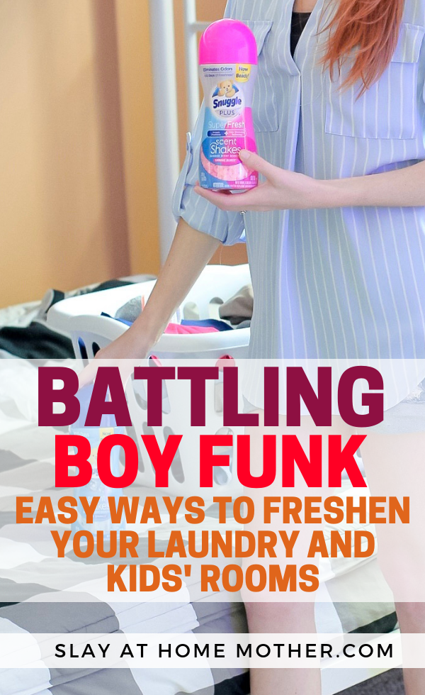 How to battle BOY FUNK (get the boy smell out of your kid's room and experience fresher laundry with Snuggle®. #SnuggleScentShakes #ShakeUpYourScents #sponsored