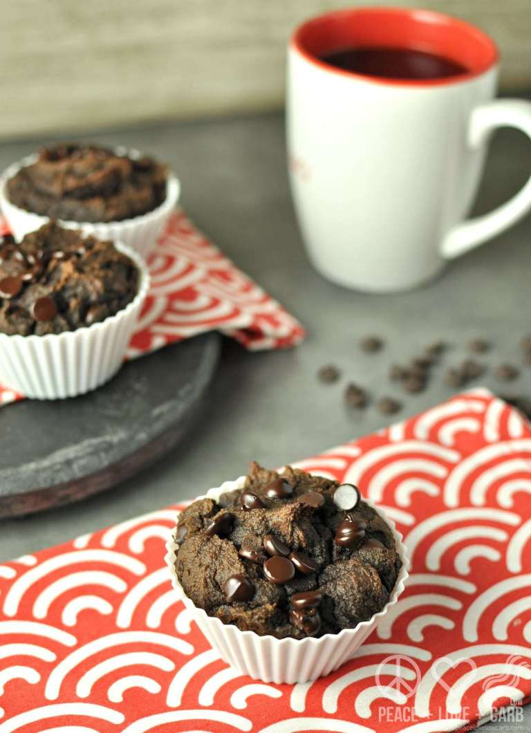 double chocolate chip pumpkin spice muffins