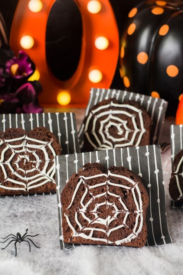 Chocolate Spiderwebs Bread