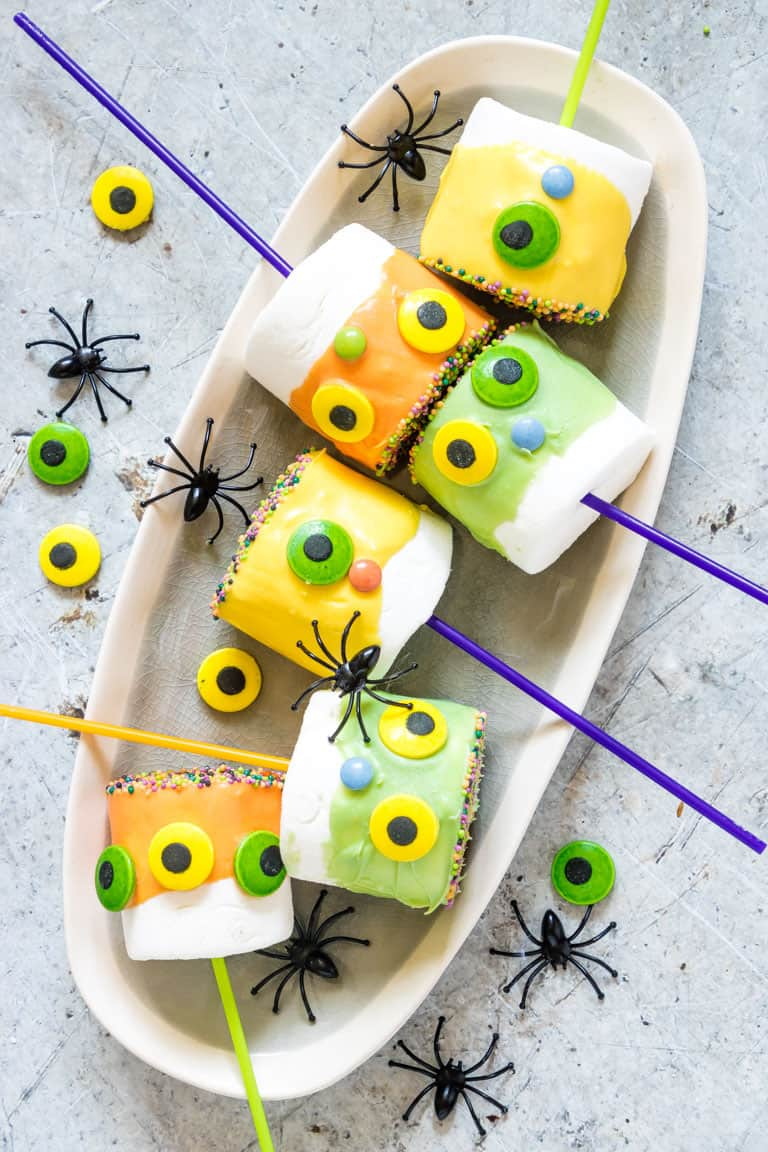 Monster Halloween Marshmallow Pops