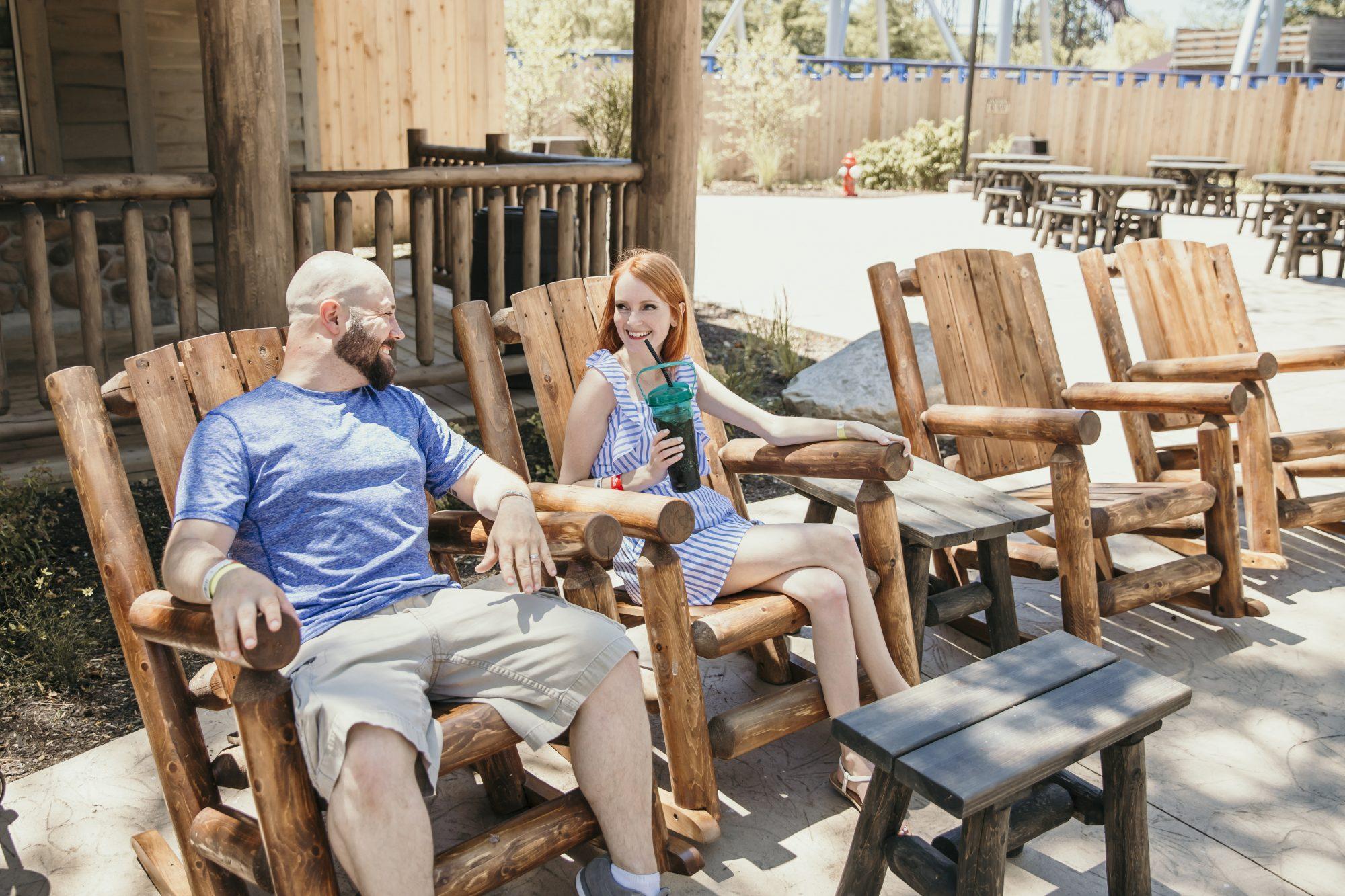 relaxing in frontier town in cedar point
