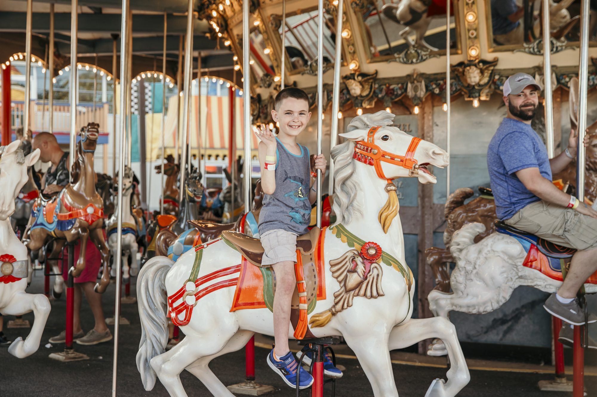 max riding the carousel in cedar point