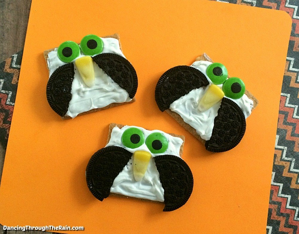 No-Bake Owl Cookies