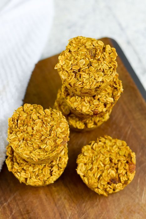 pumpkin walnut oatmeal muffins