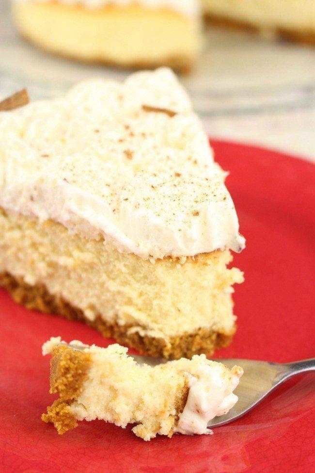 pumpkin eggnog cake