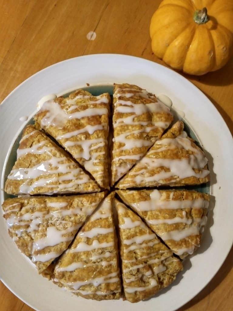 healthy pumpkin scones