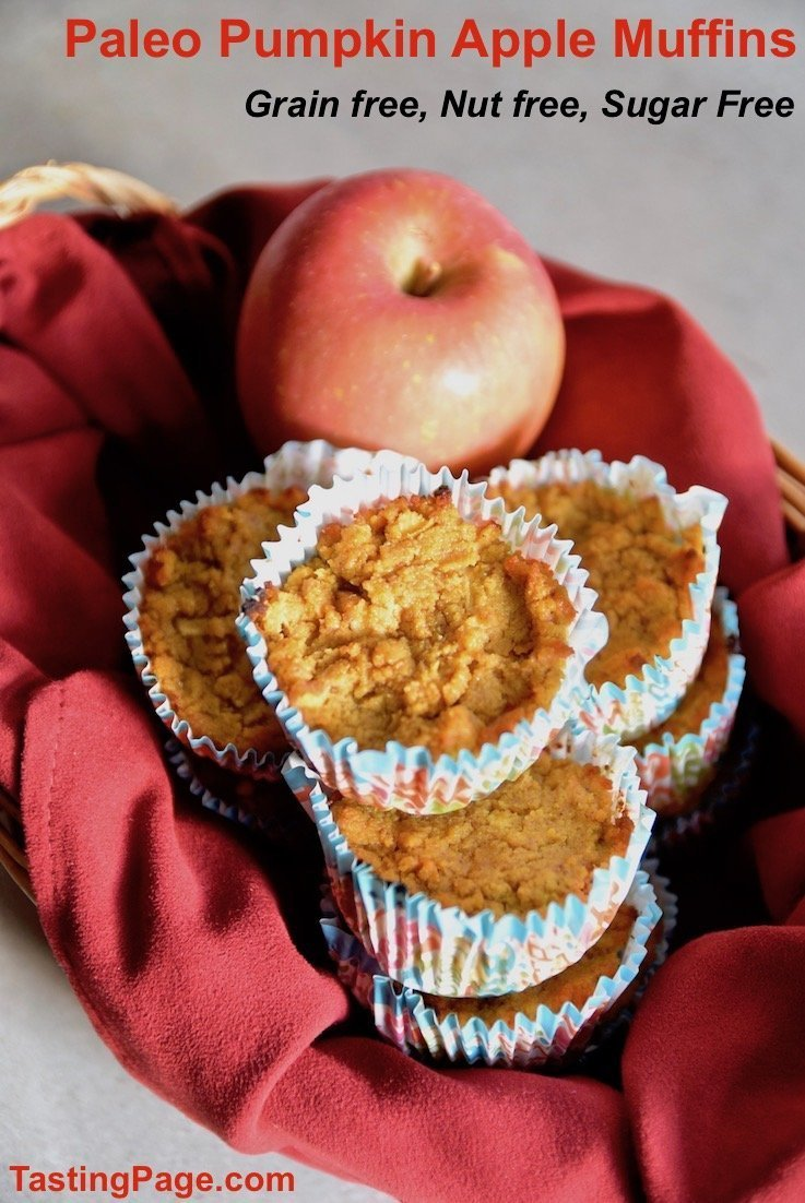paleo pumpkin apple muffins