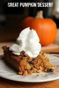 great pumpkin dessert