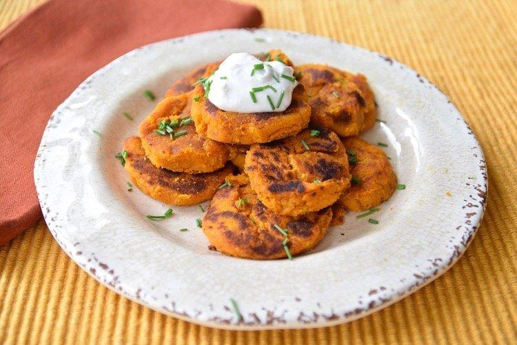 sweet potato pumpkin fritters