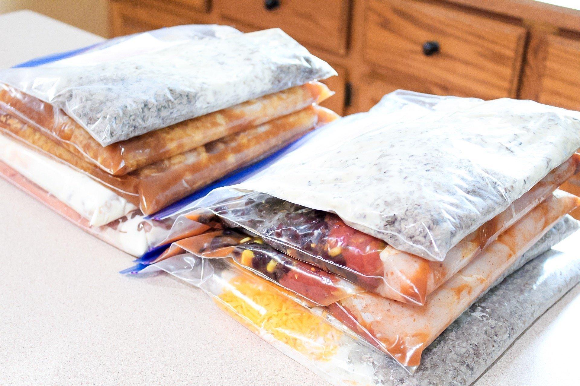10 crockpot freezer meals done