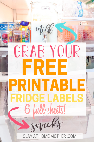 Free Printable Fridge Labels from SLAYathomemother.com