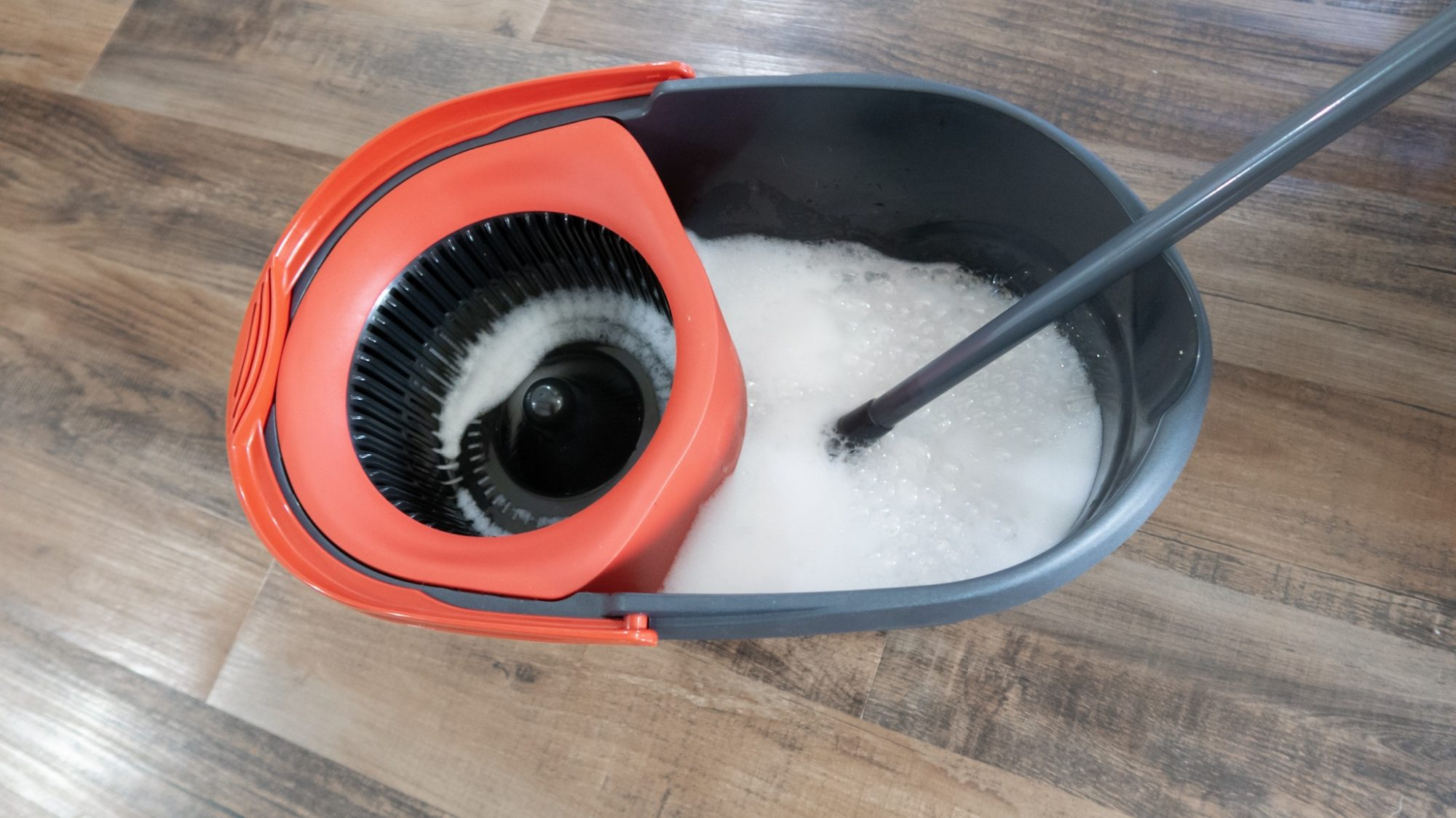 Homemade Floor Cleaner suds