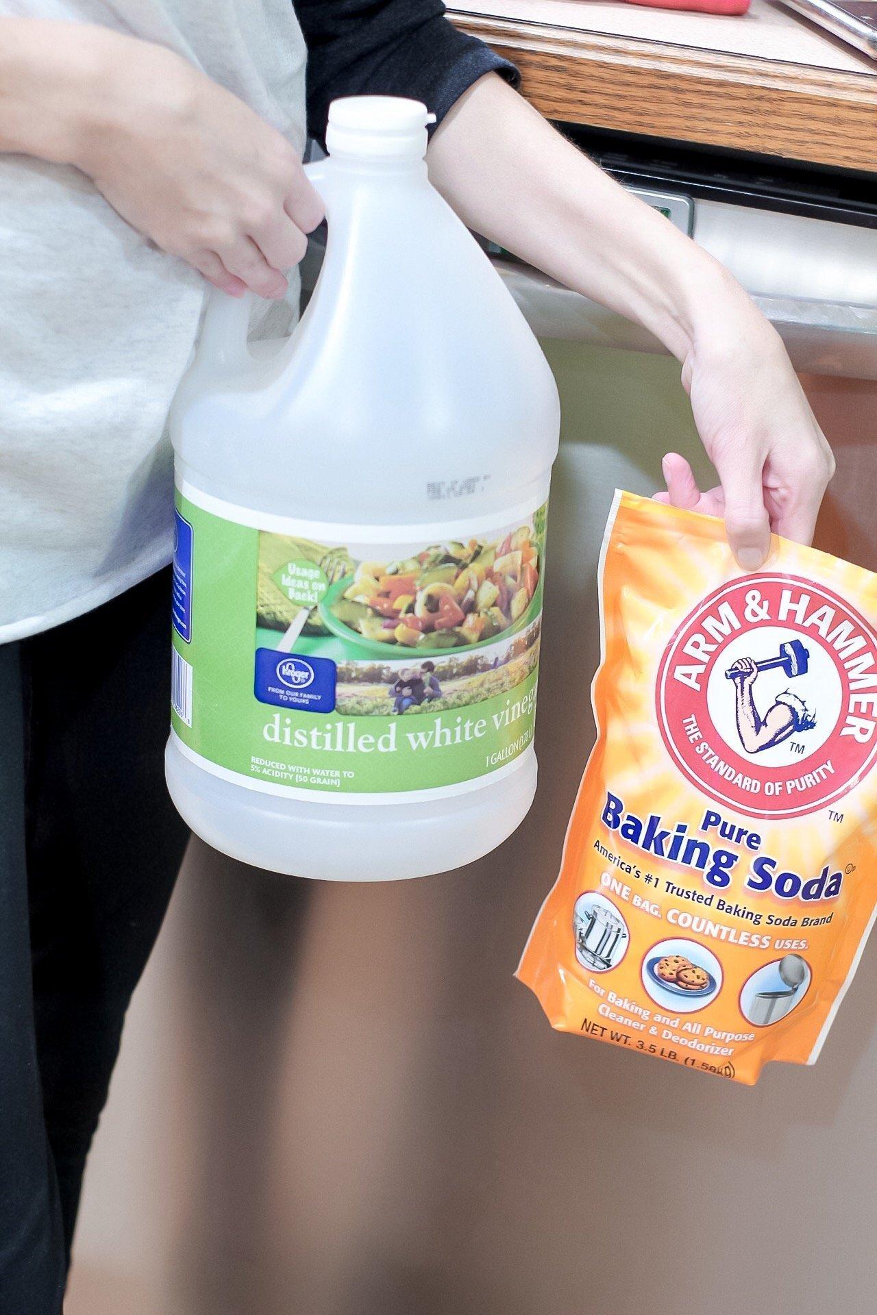 vinegar and baking soda