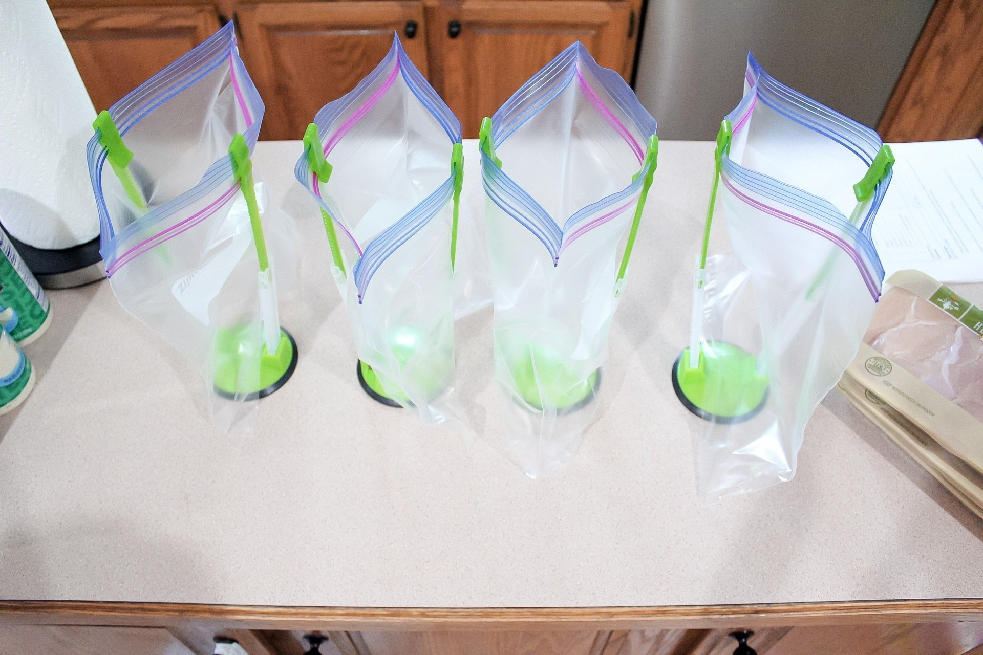 freezer meal prep baggy holders