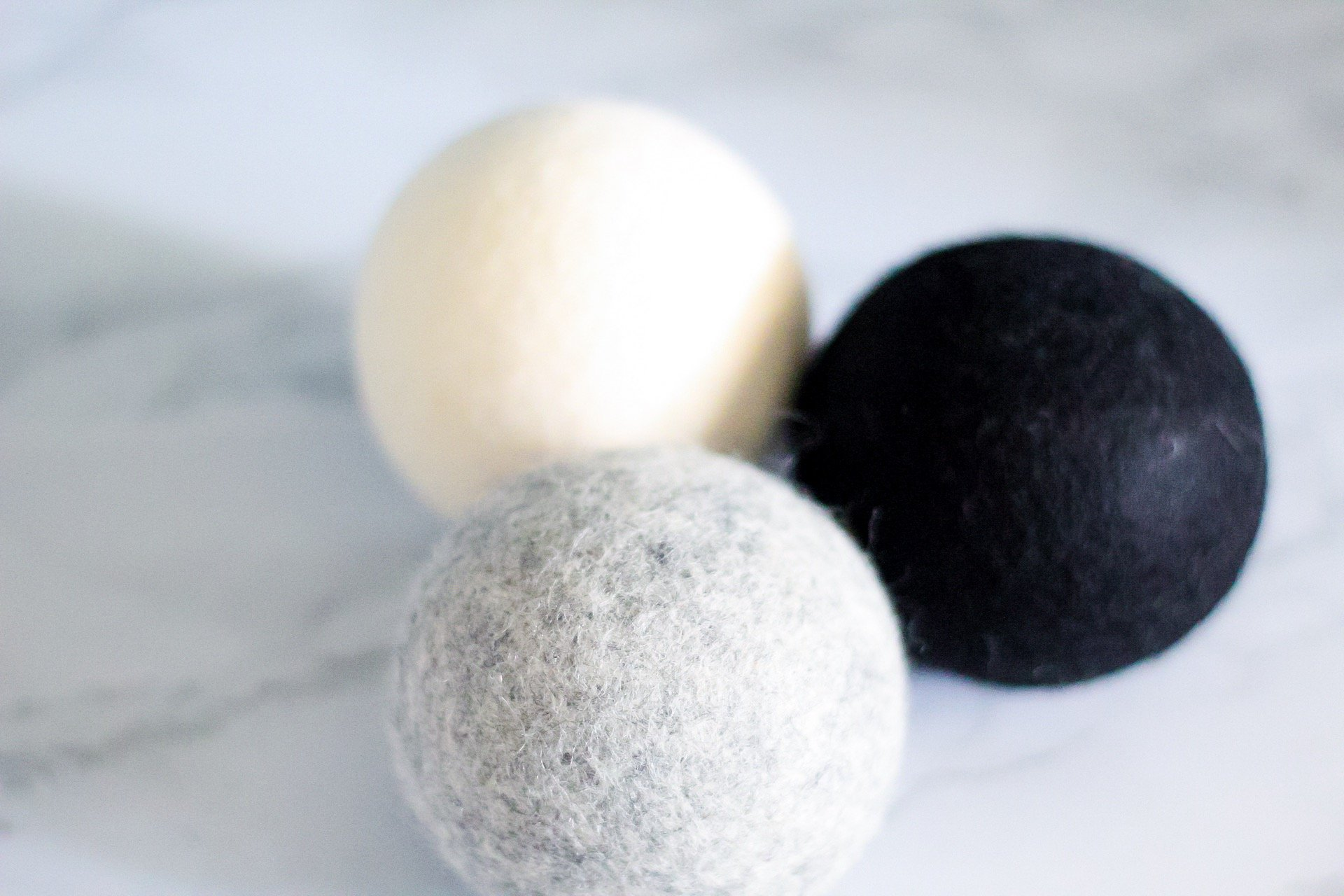 wool dryer balls from dropps closeup
