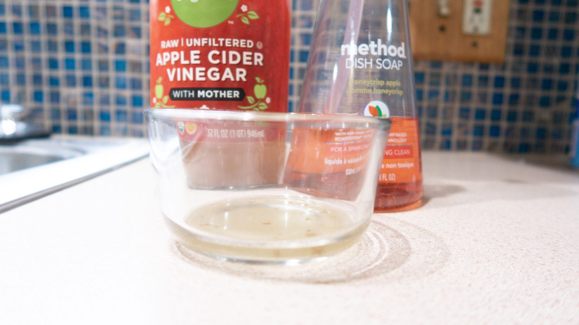 diy homemade fruit fly trap finished