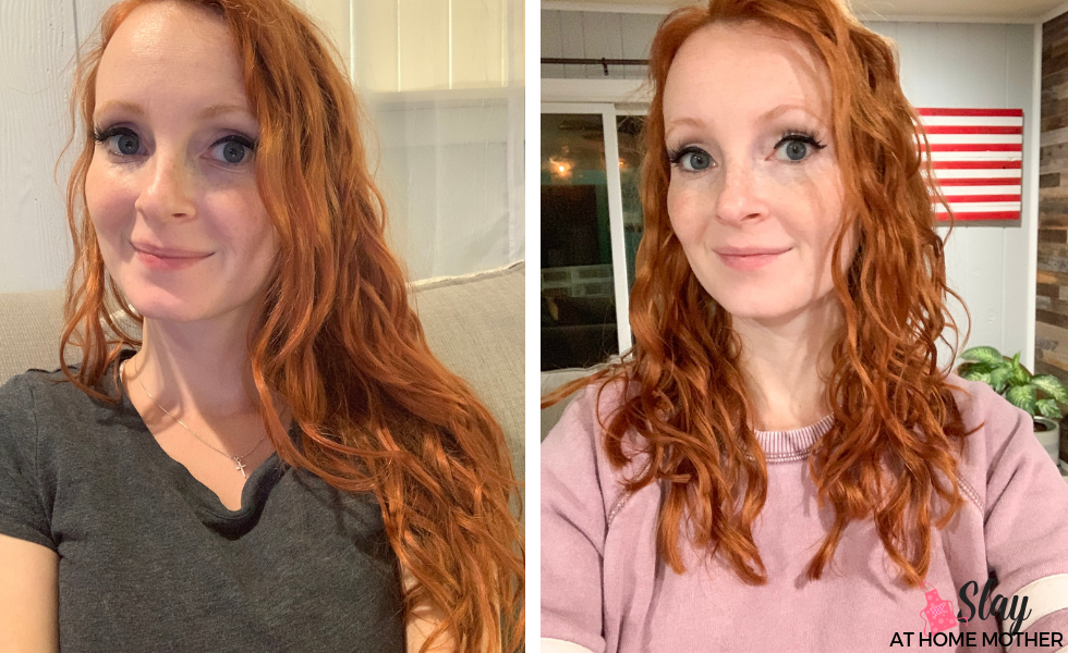 curly girl method before and after