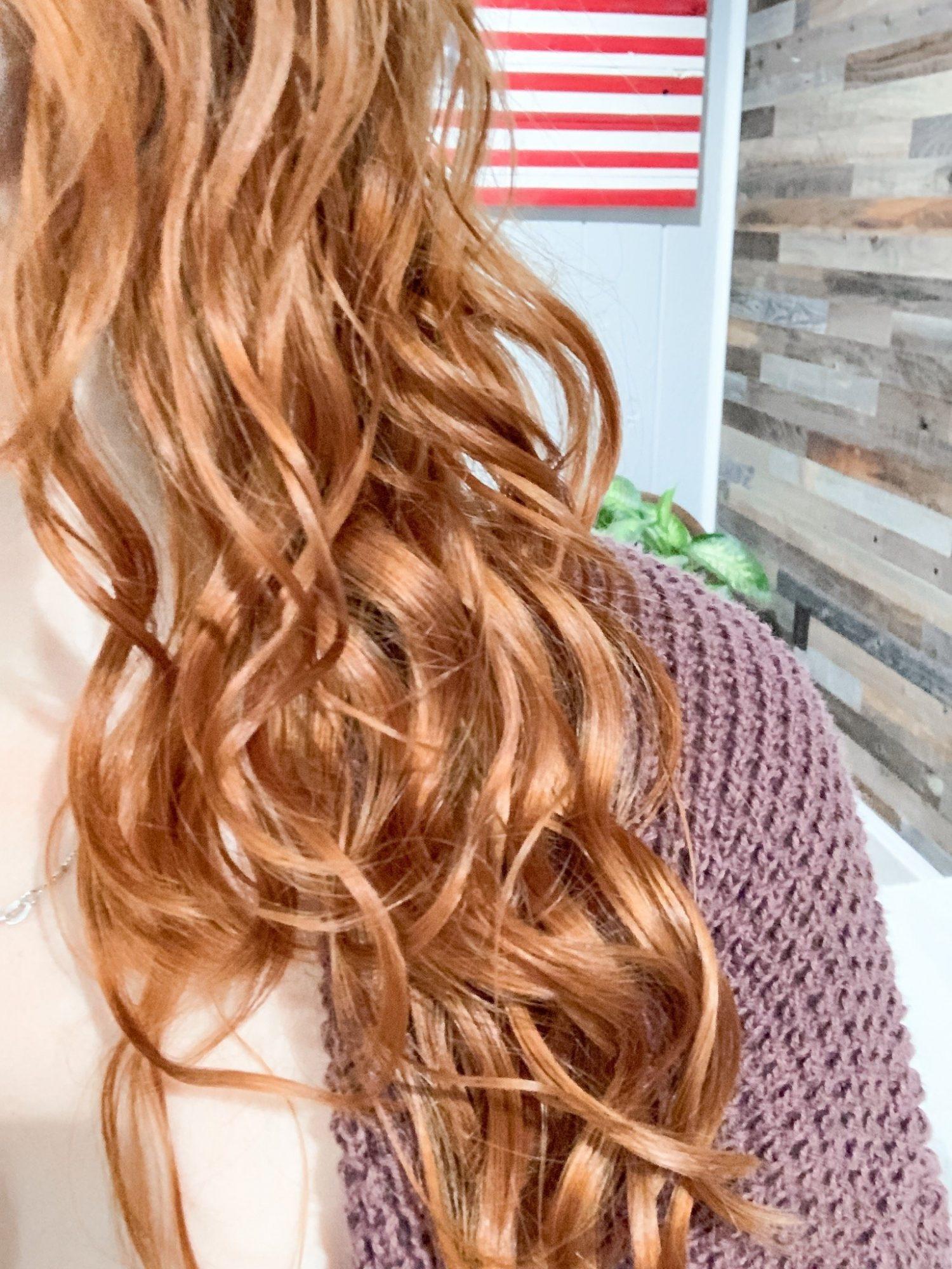 2b curly hair closeup