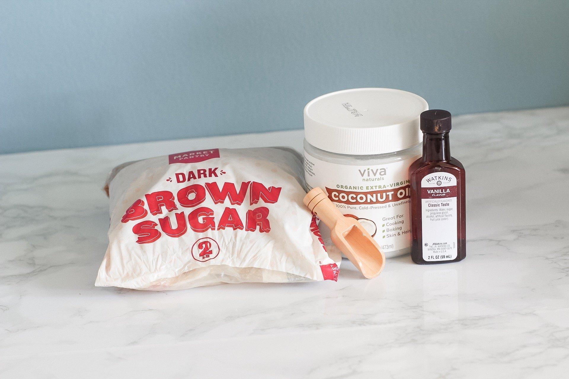 homemade sugar scrub supplies