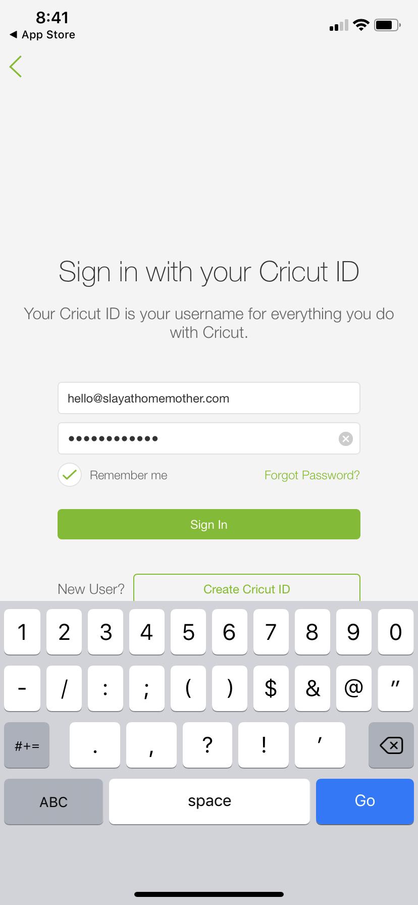 Cricut design space iphone screenshot