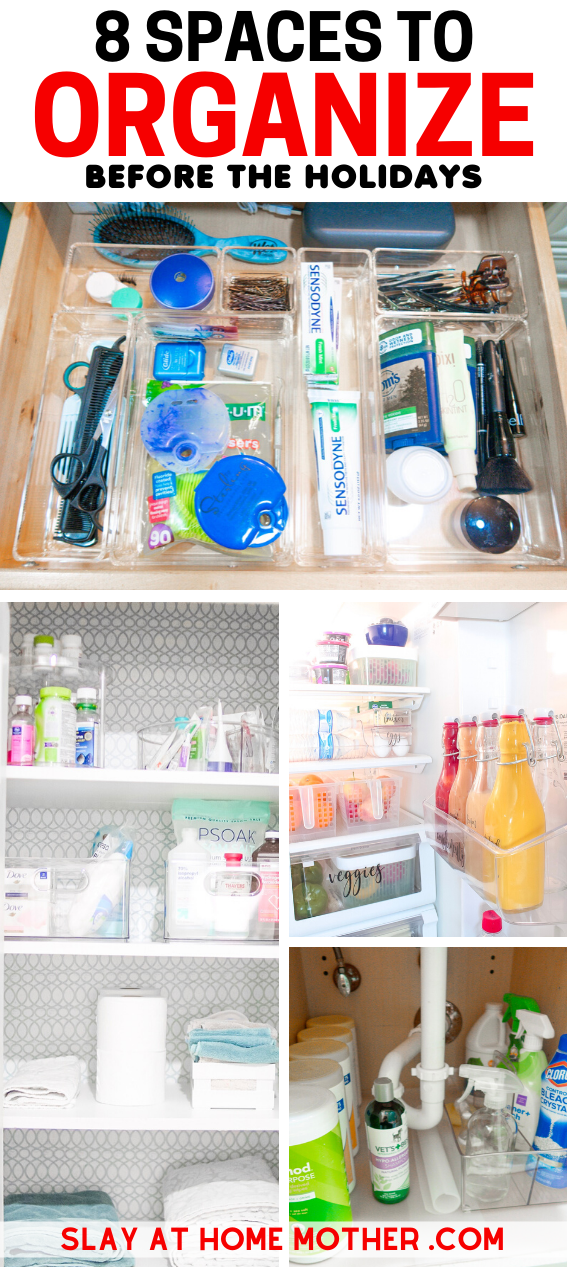 8 Spaces To Organize In Your Home Before The Holidays - SLAYathomemother.com