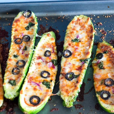 Zucchini Pizza Boats – Ready In 25 Minutes!