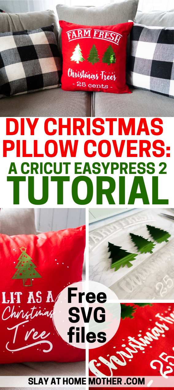 DIY Christmas Pillow Covers: CRICUT EASYPRESS 2 PROJECTS