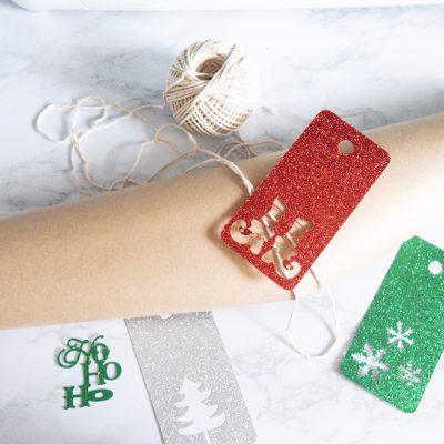 DIY Gift Tags For Christmas (8 DIY Glitter Gift Tags for $0.40!)