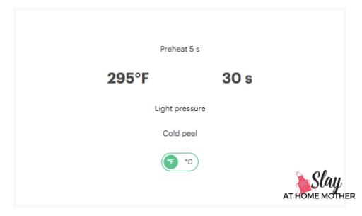 cricut heat guide settings foil iron on