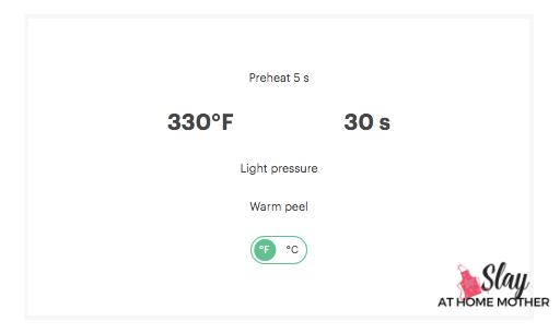 cricut heat guide settings